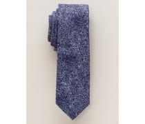 Krawatte AUS Baumwolle Blau Gemustert 6 cm