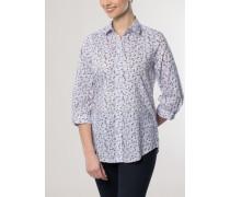 Comfort FIT Dreiviertelarm-Bluse lila bedruckt