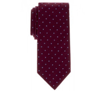 Krawatte weinrot getupft