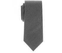 Seidenkrawatte Schwarz Gemustert 7,5 cm