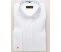 Slim FIT Langarmhemd MIT Umschlagmanschette Weiss