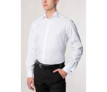 Modern FIT Langarmhemd mit Umschlagmanschette weiss