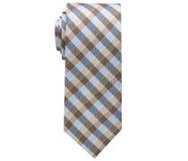 Krawatte Hellblau/beige Kariert