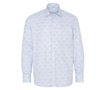 LANGARM HEMD COMFORT FIT NEVER IRON SHIRT TWILL HELL/WEISS