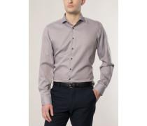Slim FIT Langarmhemd braun strukturiert