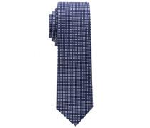 Krawatte Marine/weiss Getupft