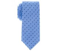 Seidenkrawatte Blau MIT Tupfen 7,5 cm