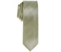 Seidenkrawatte Gelb-Grau Getupft 6 cm