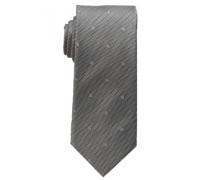Seidenkrawatte grau bedruckt 7,5cm