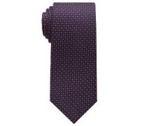 Krawatte Bordeaux Gemustert