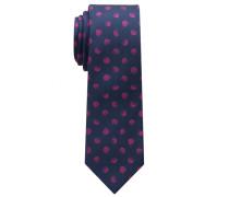 Krawatte Schwarz/rot Getupft