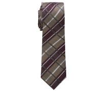Krawatte Weinrot/braun Kariert