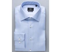 Comfort FIT Premium Langarmhemd hellblau strukturiert
