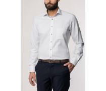 Modern FIT Langarmhemd beige-weiss gestreift
