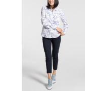 Langarm Bluse Modern Classic Blau/weiss Bedruckt