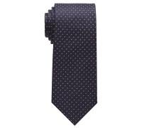 Krawatte Marine Getupft