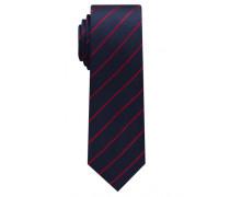 Krawatte Rot/marine Gestreift