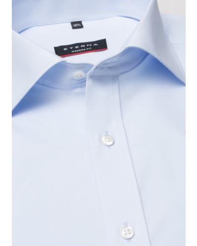 Kurzarm Hemd Modern FIT Popeline Hellblau Unifarben