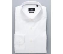 Modern FIT Premium Langarmhemd weiss strukturiert