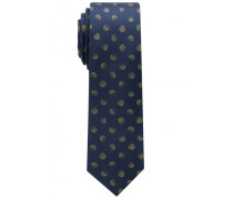 Krawatte Oliv/grau Getupft