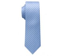 Krawatte Hellblau/maineblau Getupft