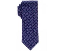 Seidenkrawatte Blau/lila Gemustert 7,5 cm