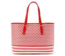Handtasche mit Würfelprint