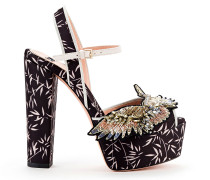 Sandalen mit Bambusprint