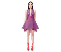 Asymmetrisches Kleid mit Streifen-Printmotiv