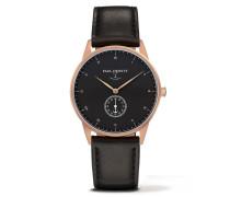 Signature Line Rose Gold/Black Sea Leather Uhr PH-M1-R-B-2S