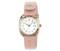 Beaubourg Lady Gold Rosa Leather Strap Weiß Dial Uhr TW1596