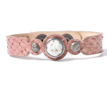Petite Pink Salmon Armband WPCS-9090-98-S