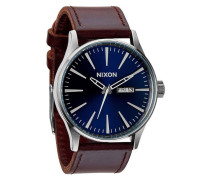 Sentry Leather Blue/Brown Uhr A1051524