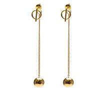 Hanging Balls Silver Goldplated Ohrringe M1860