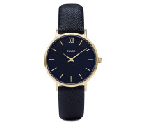 Minuit Gold/Midnight Blue Uhr CL30014