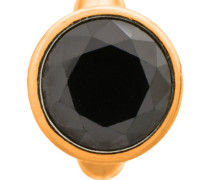 Round Black Dome Gold Charm 51203-4