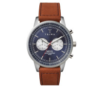 Blue Steel Nevil Brown Sewn Classic Uhr NEST108SC010216