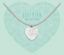 Bohemian Beads Big Heart Kette BO286BHE17S (Länge: 40-44 cm)