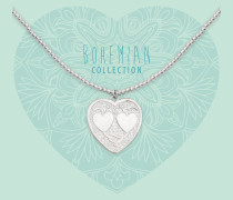 Bohemian Heart with Polished Hearts Kette BO288POH17S (Länge: 40-44 cm)