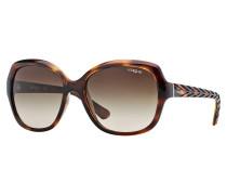 Striped Dark Havana Sonnenbrille VO2871S150813