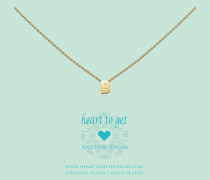 Heart For Initials Letter B Gold Charm L143INB13G