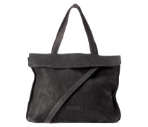 Shabbies Suede Black Handtasche 2130200020001-L