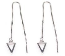 Pull Through Triangle Silver Ohrringe M1801