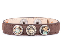 Brown Wrap Bracelet Petite Classic Skinny-Peafowl XWPCS-9050-14-M
