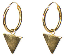 Hoops Symbols Triangle Silver Goldplated Ohrringe M1909