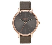 Kensington Leather Rose Gold Uhr A1082214