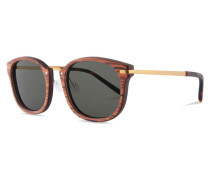 Hermann Sonnenbrille Rosewood/Solid Green