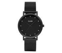 Pavane Mesh All Black Stones Uhr CL18304