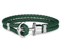 PHREPS Silver Green Armband PH-PH-L-S-G-XL