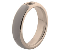 Vivid Resine Ring Taupe/Rose Gold